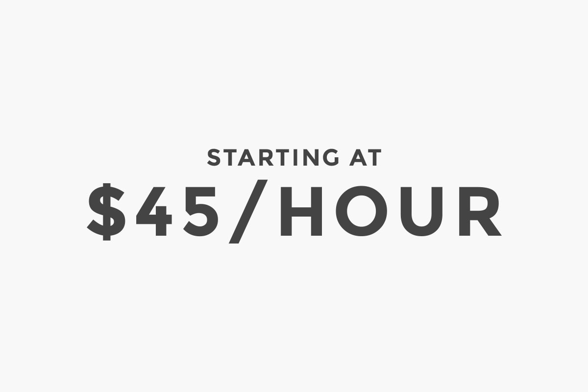 Starting at $45